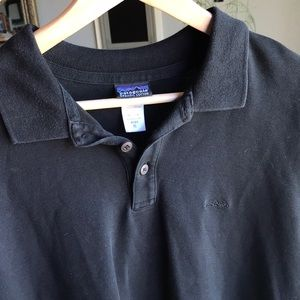 Patagonia Men's Black Short-Sleeve Polo